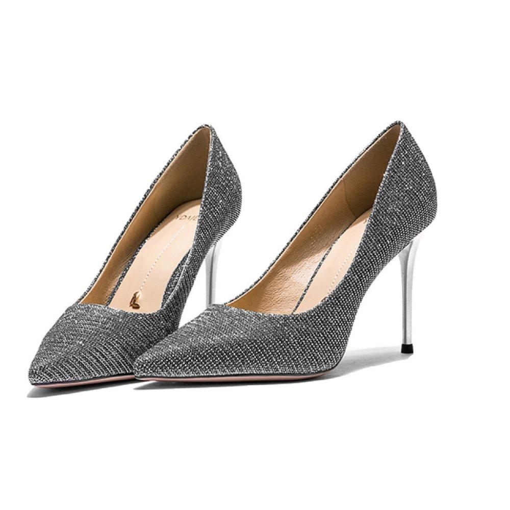 Yra Damenschuhe Frühling Neue High Heels Damen Stiletto Heels Single Single Single Schuhe Party Schuhe Arbeit,Silber-8.5CM-EU 35 UK 3 b21c14