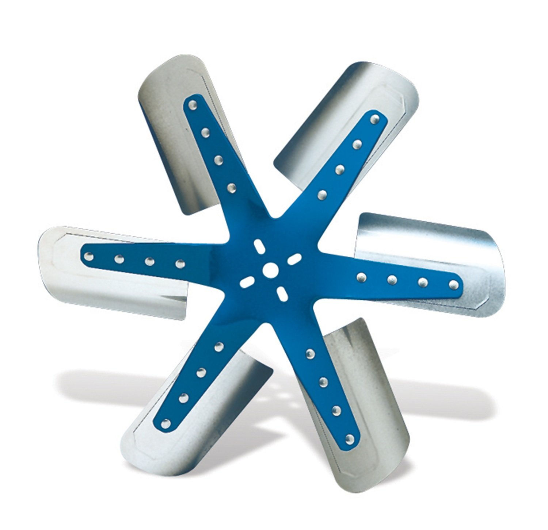 "Flex-a-lite 1319 Blue Star Stainless Steel 6-Blade 19-3/8"" Flex Fan"