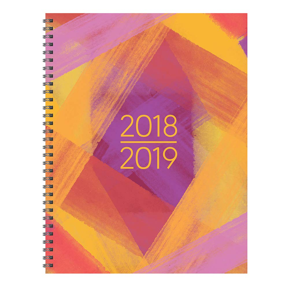 "Read Online TF Publishing 19-9704A July 2018 - June 2019 Painted Colors Large Weekly Monthly Planner, 9 x 11"", Gold, Pink & Purple pdf"