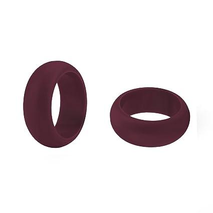 (precio/4 piezas) GOGO hombres de silicona anillos de boda unidades - 9 mm de ancho (3 mm de grosor), color verde lima, marrón: Amazon.es: Deportes y aire ...