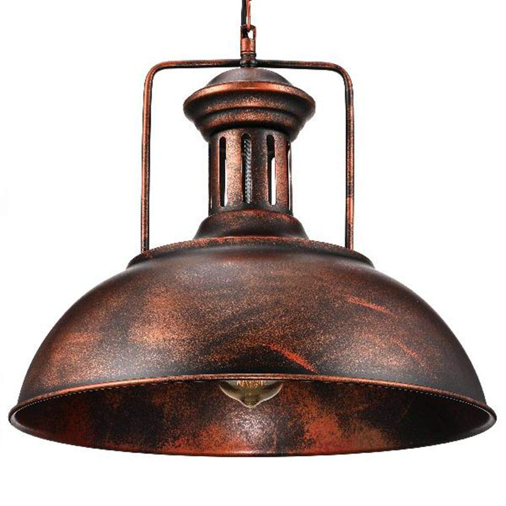 Industrial nautical barn pendant light litfad 16 single pendant lamp with rustic dome bowl shape mounted fixture ceiling light chandelier in copperul