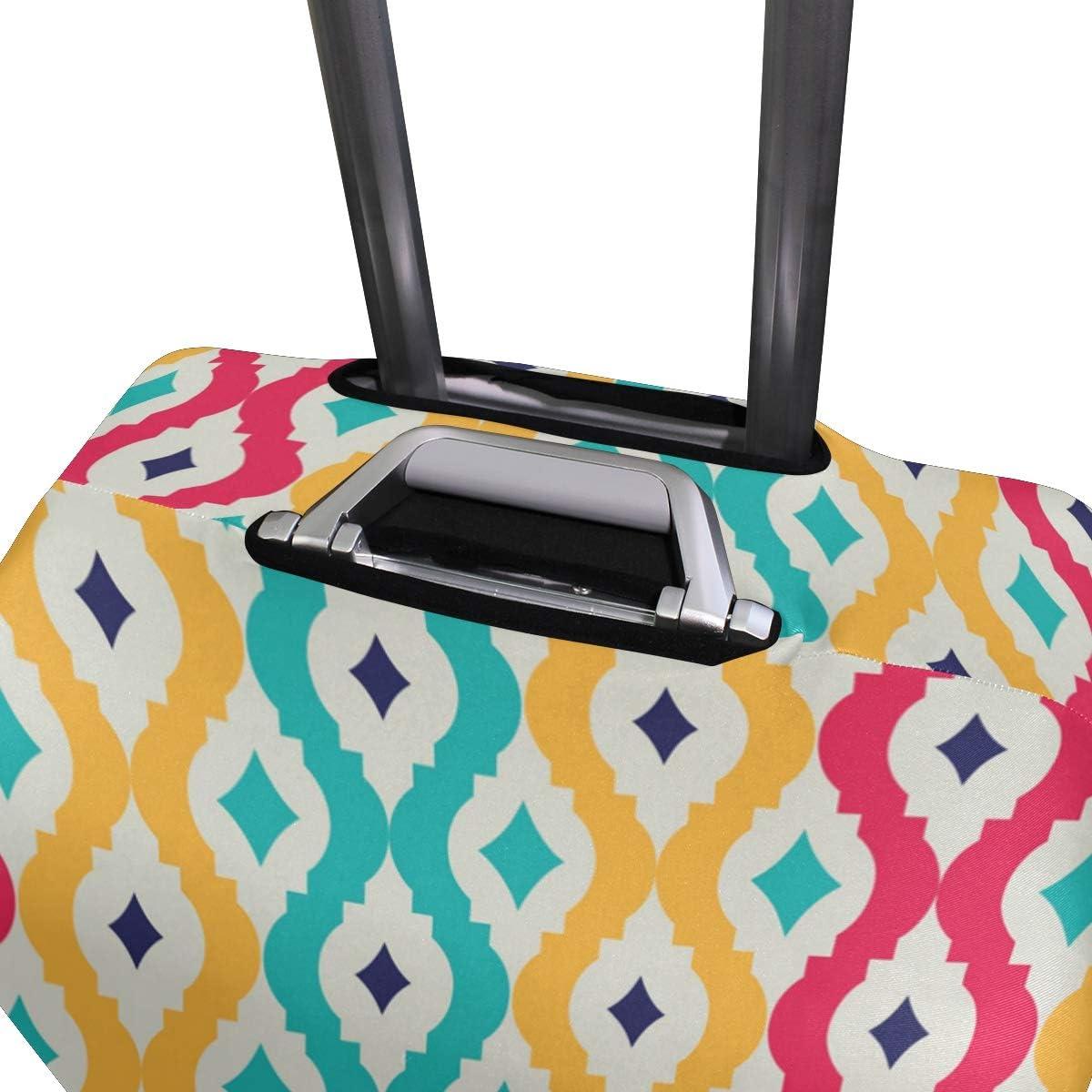 FANTAZIO Colorful Tangled Lattice Suitcase Protective Cover Luggage Cover