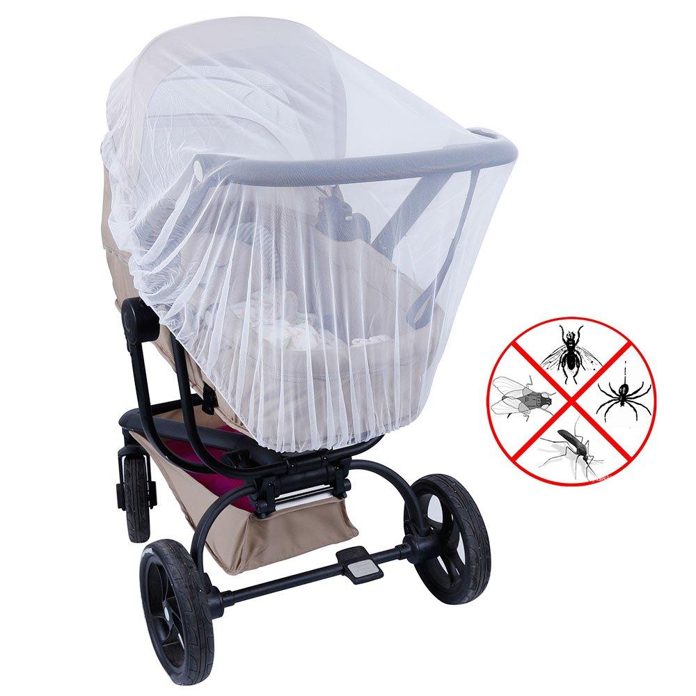 Lictin Insektenschutz Moskitonetz für Kinderwagen Schutz vor Moskito Insekt, Weiß, 57 inch Weiß