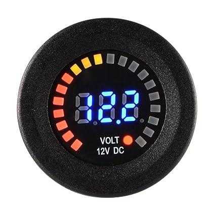Car Motorcycle DC 12V Digital Blue LED Display Voltmeter Volt Meters Gauge