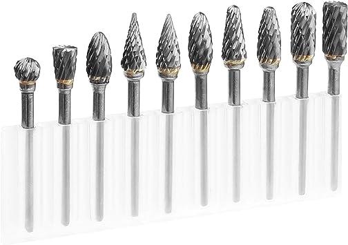 10PCS 3 x 6 mm Tungsten Steel Solid Carbide Burrs Rotary Drill Bit Tool
