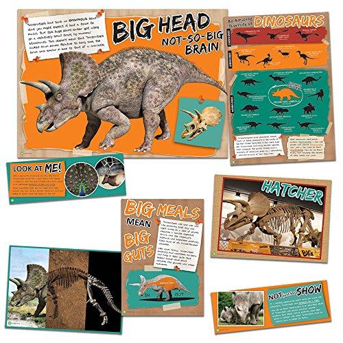 Eureka Smithsonian Triceratops Dinosaur History Bulletin Board and Classroom Poster, 18'' x 28''
