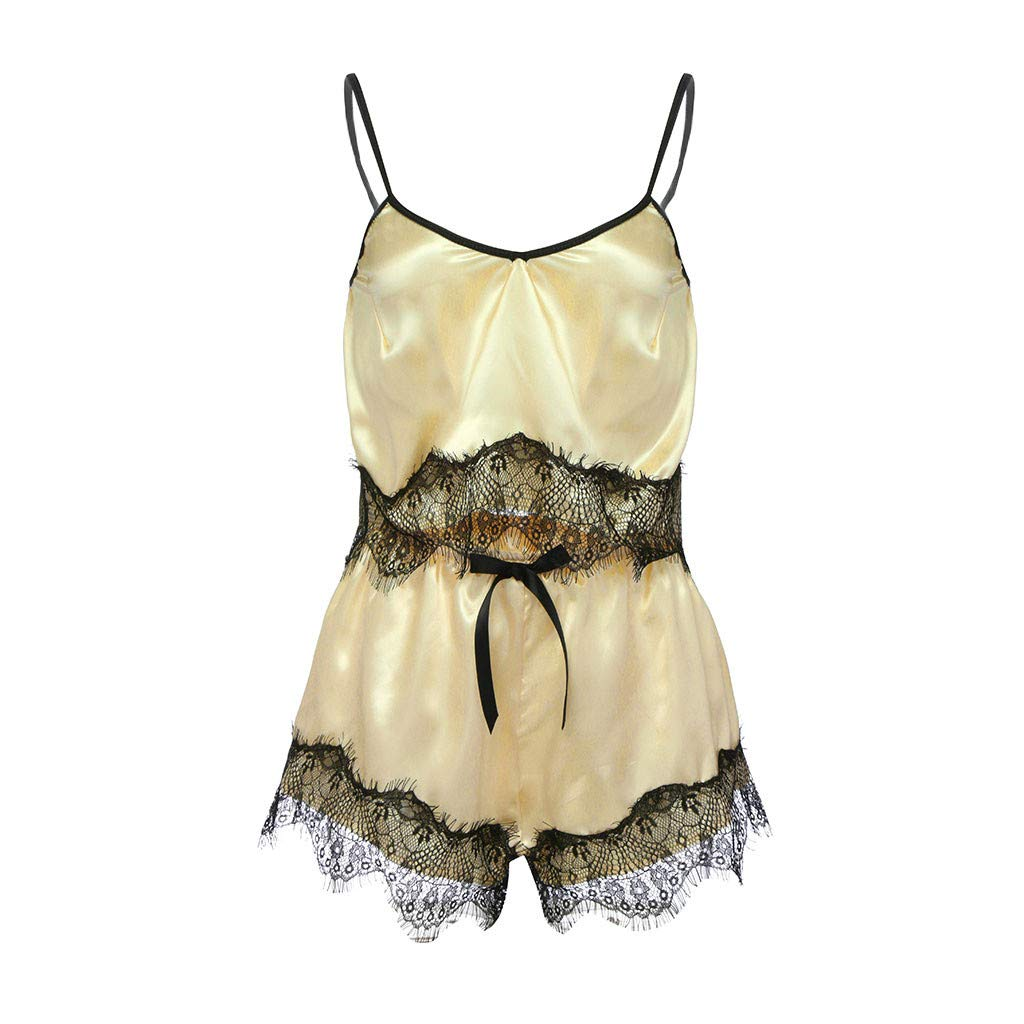 FINENICE Backless Slip Floral lace Lingerie See Through v-Neck Babydoll Sexy Lingerie for Women one Piece Bodysuit