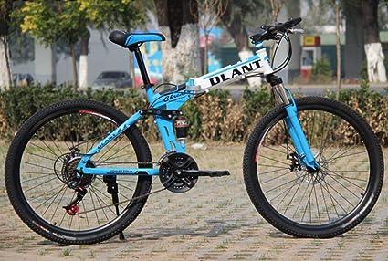 Hycy 26 Pulgadas De Bicicleta Plegable 21 Velocidad De Doble Amortiguación Velocidad De Freno De Mariposa