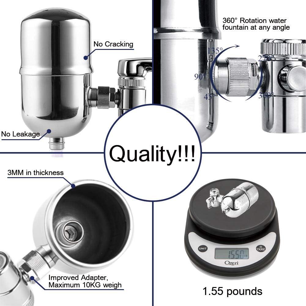 Engdenton B07DCMD991 Faucet Mount Water Filter