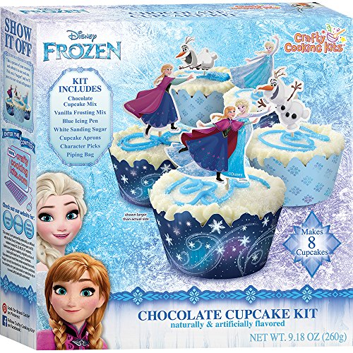 Crafty Cooking Kits Disney Frozen Cupcake Kit, Chocolate, 9.18 Ounce