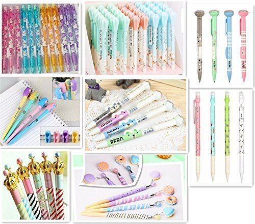 Jollin 12 Cute Korean Kawaii Mechanical Pencils With Erasers And Leading Refills Style Mixed]()