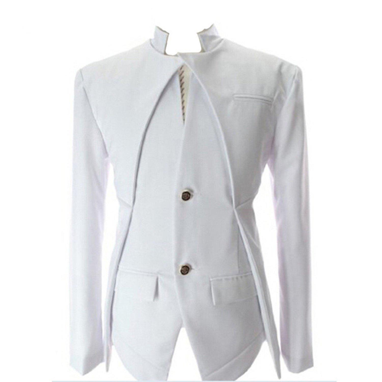 8806b8edf3c7 Thadensama Men'S Blazer Fashion Dress Suits Men Blazers Slim Casual Jacket  Autumn White Wedding Blazers Men Asian M-Xxl at Amazon Men's Clothing store: