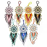 OR209 Ornament 4 inch Dream Catcher Glass Crystal Beaded Christmas Fair Trade