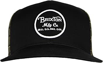Brixton Mens Wheeler Medium Profile Adjustable Mesh Hat