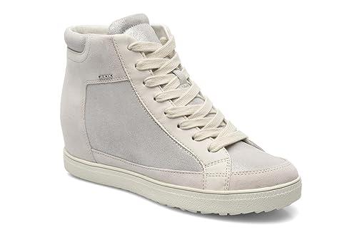 f8ce167e51205 Geox Mujer zapatillas deportivas con cuña interior Blanco Size  39   Amazon.es  Zapatos y complementos