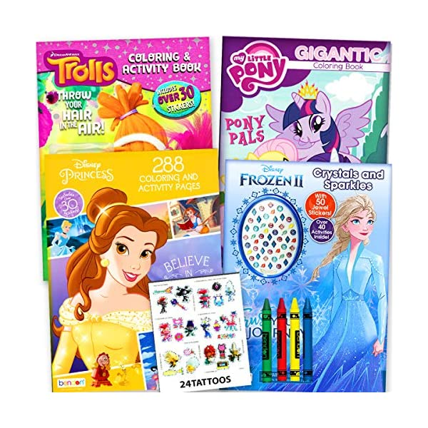 Disney Princess MLP Trolls Coloring Book Ultimate Activity Set For Girls  Kids Toddlers – 4 Coloring Books Featuring… – BLINKEE.COM