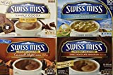 swiss miss dark hot chocolate - Swiss Miss Variety Pack - 1 Box of Each- Caramel Delight Cocoa, Dark Choccolate Sensation, Simply Cocoa and Swiss Miss Classics Marshmallow