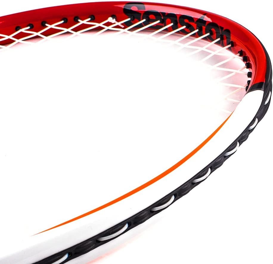 Vibration Damper Senston 27 inch Tennis Racket Professional Tennis Racquet,Good Control Grip,Strung with Cover,Tennis Overgrip