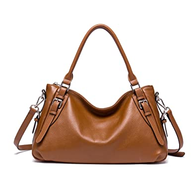 f066b990631b Amazon.com: BOSTANTEN Women Leather Hobo Handbags Tote Purse Top ...