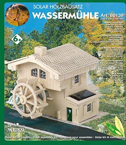 Weico Solar Holzbausatz Wassermühle mit Brunnen (Incl. Solarzelle und Motor)