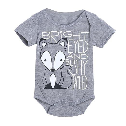 16b013c4ebbd Amazon.com  Allywit Newborn Infant Baby Boys Girls Fox Letter Print ...