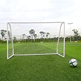 MyEasyShopping 2.45M Professional PVC Tube Plastic Soccer Door White