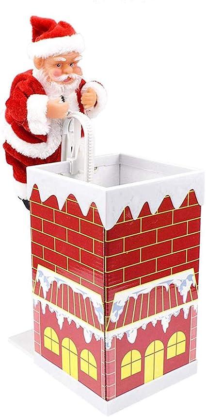 MYJZY Escalada de la Chimenea de Santa Claus, decoración ...
