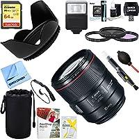 Canon (2271C002) 85mm f/1.4L IS USM Fixed Prime Digital SLR Camera Lens + 64GB Ultimate Filter & Flash Photography Bundle