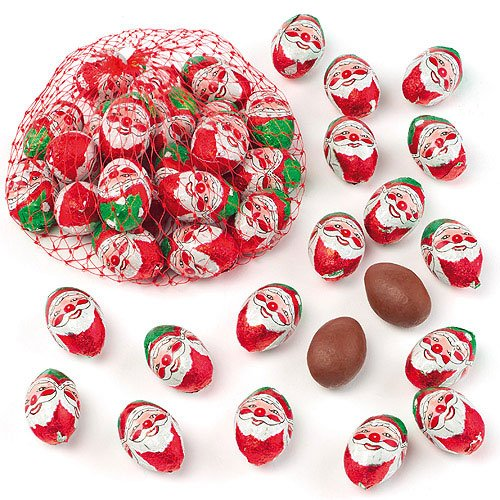 Baker Ross Ovetti di cioccolato con Babbo Natale. Perfetti per riempire calze natalizie e sacchetti regalo per feste di bambini (confezione da 16)