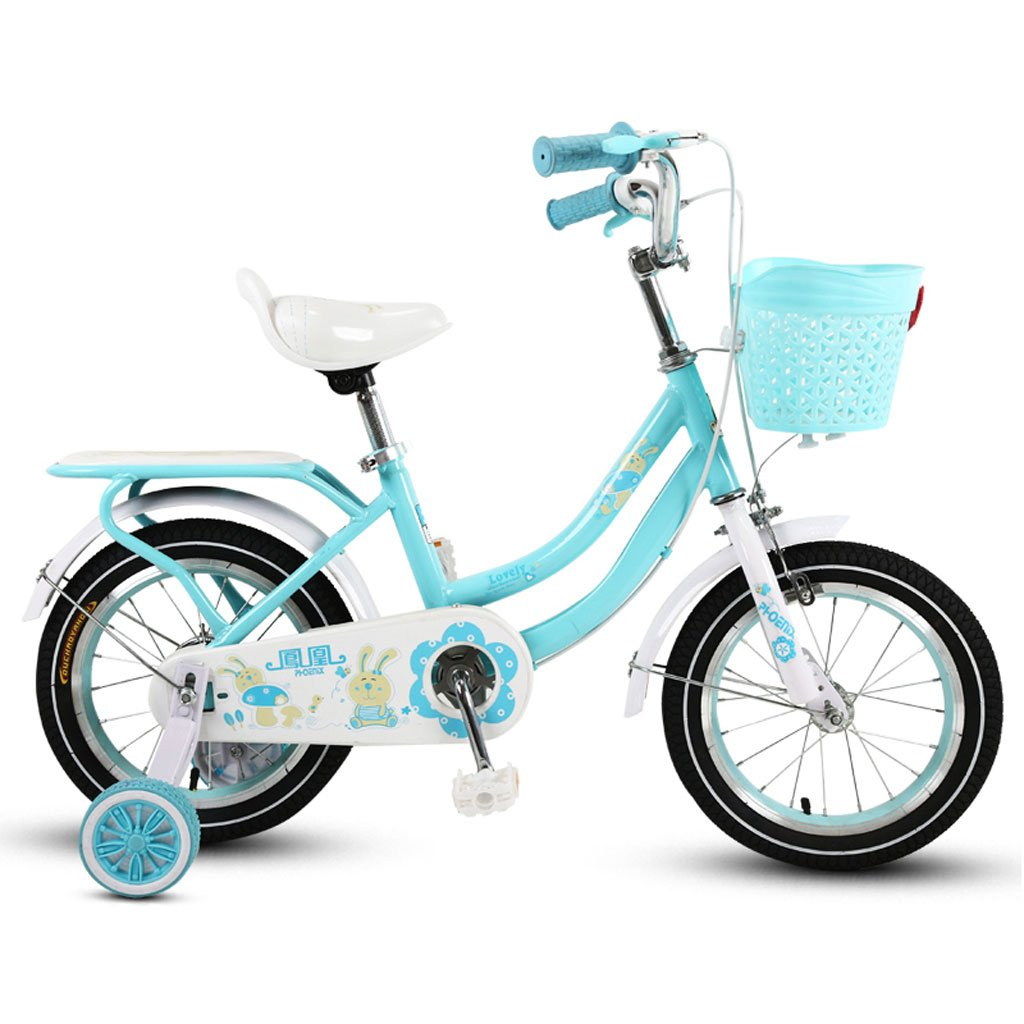 子供の自転車の女の子三輪車3-5-9歳のベビーカーの14/16/18インチ子供の自転車パープル ( Size : 18 inch blue ) B07DR7BW2W
