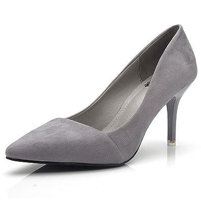 0545045f49680 Inconnu Femme Escarpin Stiletto Mode Chaussure Talons Hauts Élégante Pompes  Travail Bout Pointu Résistantes  Amazon.fr  Chaussures et Sacs