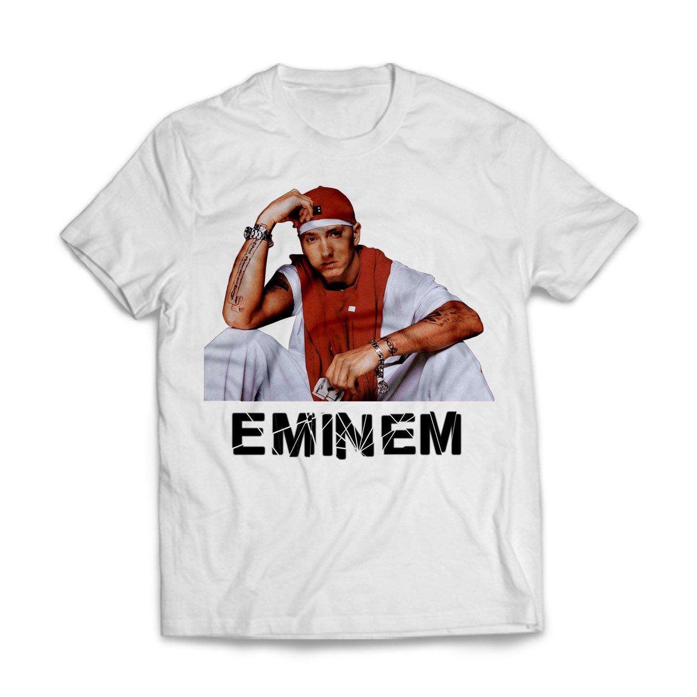 Publiassia Stamperia Eminem T- Shirt 5 Hip Hop Rap Maglietta Uomo Donna  Slim Shady 2018 Concerto Tour Maglia Idea Regalo  Amazon.it  Abbigliamento eabf440111c5