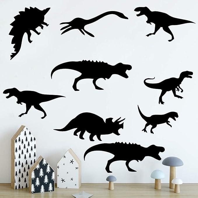 yaonuli Estilo de Dibujos Animados Dinosaurio Etiqueta de la Pared Vinilo Arte calcomanía Fondo Pared calcomanía 54x66cm: Amazon.es: Hogar