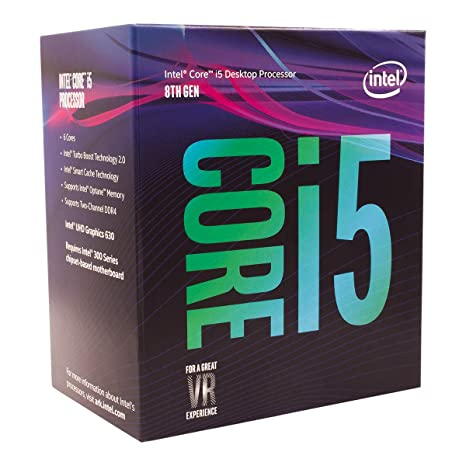 Intel Core i5-8400 Desktop Processor 6 Cores up to 4 0 GHz LGA 1151 300  Series 65W