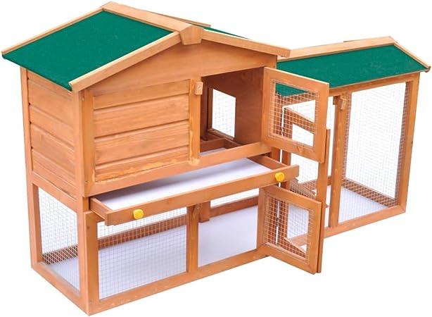 SOULONG Gallinero Grande de Madera Abeto Capacidad de 4-8 Gallinas 140 x 46 x 85 cm: Amazon.es: Productos para mascotas