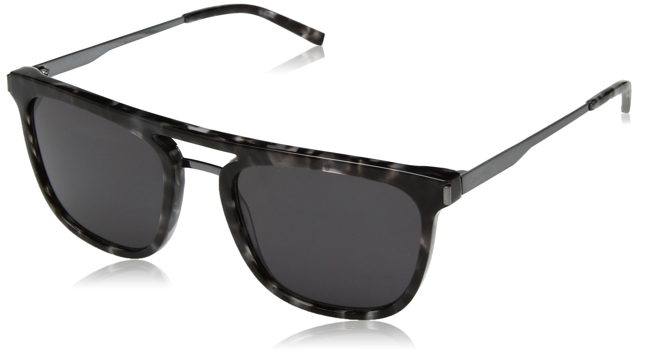 Calvin Klein Men's Ck1239s Square Sunglasses, Grey Havana, 54 mm