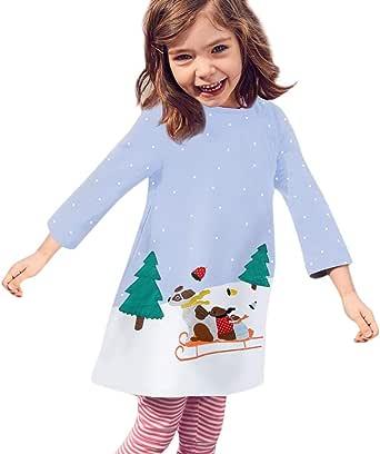 Girl Dress,amazingdeal Kids Children Stars Elephant Long Sleeve O-Neck Dress