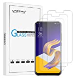 [3 Pack] Orzero For Asus Zenfone 5 ZE620KL /Asus Zenfone 5z ZS620KL Tempered Glass Screen Protector, 2.5D Arc Edges 9 Hardness HD Anti-Scratch Bubble-Free [Lifetime Replacement Warranty]