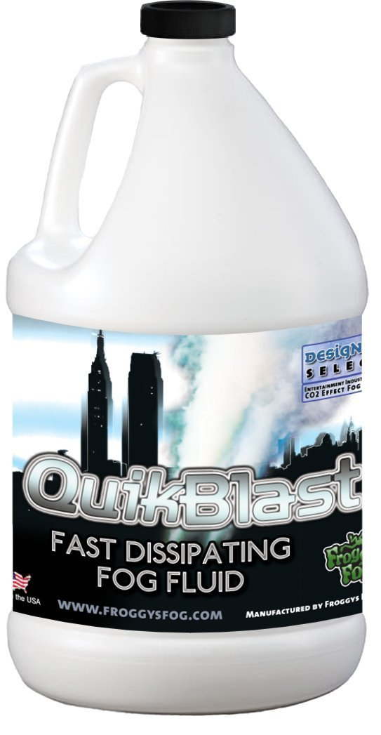 1 Gal - QuikBlast - Best Fluid for Chauvet Geysers - CO2 Blast Effect Fog Machine Fluid Froggys Fog Fro-6214