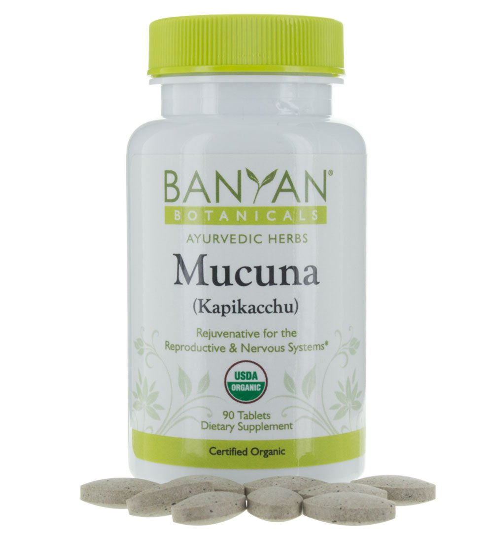 Banyan Botanicals Mucuna (Kapikacchu) - USDA Organic - 90 tablets - Natural Source of L-dopa - Nervous System Support*
