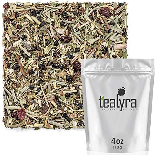 Tealyra - Echinacea ImmuneTEA - Fennel Mint Lemongrass Cinnamon - Detox Wellness Herbal Loose Leaf Tea - Caffeine Free - 112g -