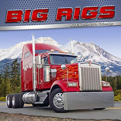 2019 Big Rigs Wall Calendar, Trucks & 4WD by Trends International (Blue Rig)