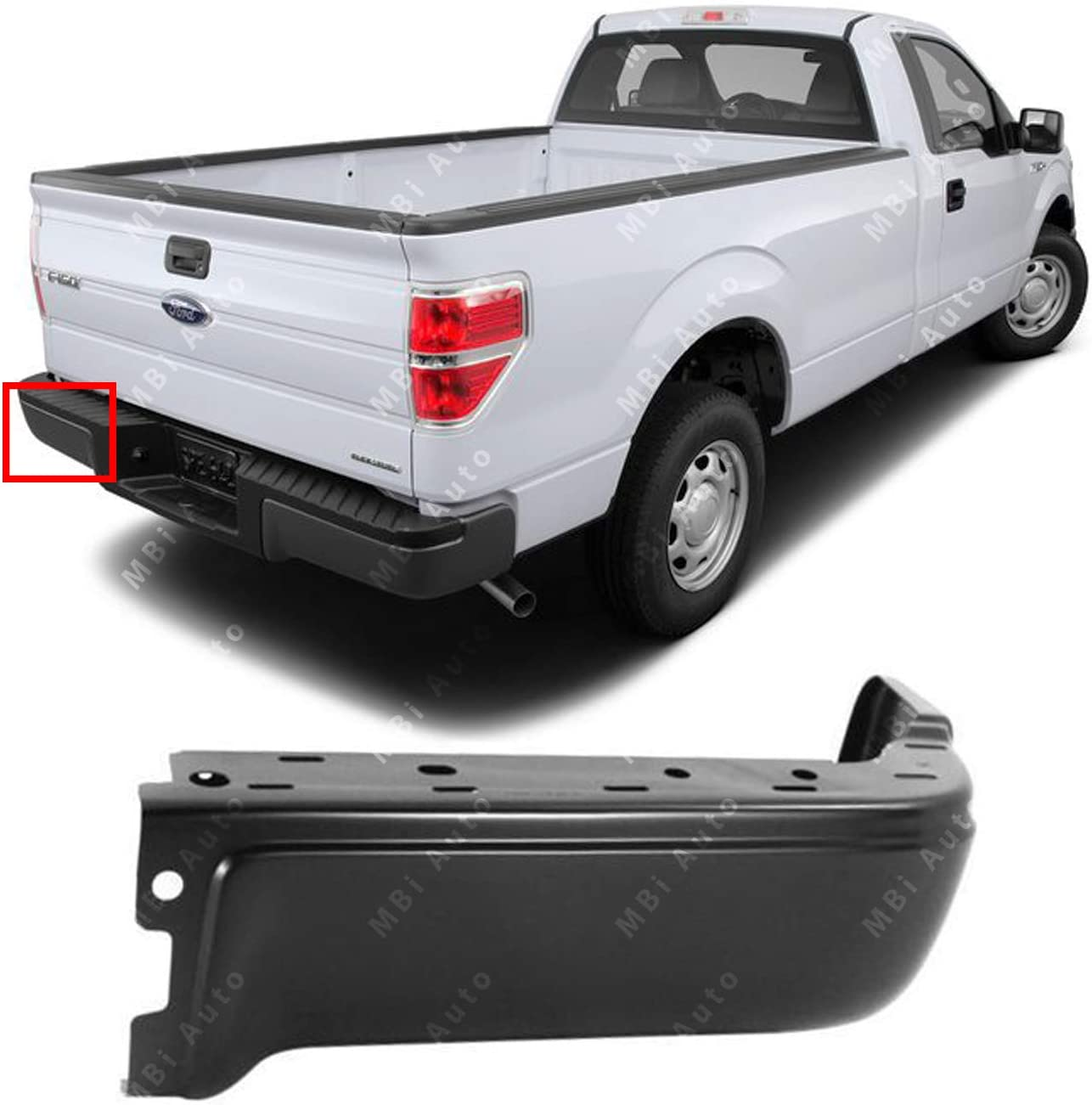 FO1102375 Primered Steel Rear Right RH Bumper Face Bar for 2009-2014 Ford F-150 Pickup 09-14 BUMPERS THAT DELIVER