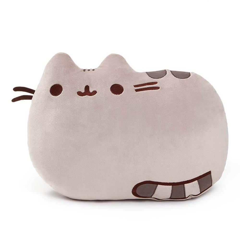 GUND Pusheen Cat Plush Stuffed Animal Pillow, Gray, 16.5''