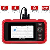 LAUNCH Scan Tool CRP129X OBD2 Scanner Automotive Code Reader Android Based Diagnostic Tool for Engine Transmission ABS SRS with Oil/EPB/SAS/TPMS/Throttle Body Reset and AutoVIN Wi-Fi Updates