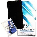 Ecran complet pour Nokia Lumia 1320 noir vitre tactile + ecran LCD sur châssis + outils - Visiodirect -