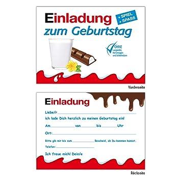 10 Lustige Einladungskarten Kindergeburtstag Einladungen Geburtstag Jungen Mädchen Kinder Schokolade Einladungen Karten Feier Party Witzig Cool