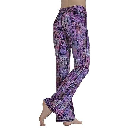 Xhtoe Pantalones de Yoga Moda Yoga Pantalones Impresión ...