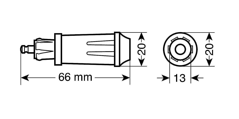Lampa 39027 Fiche DIN 12//24 V