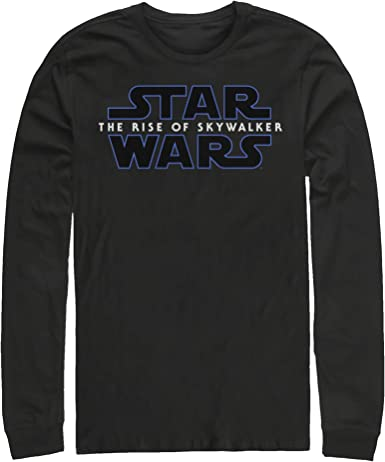 Amazon Com Star Wars The Rise Of Skywalker Men S Classic Logo Long Sleeve T Shirt Clothing